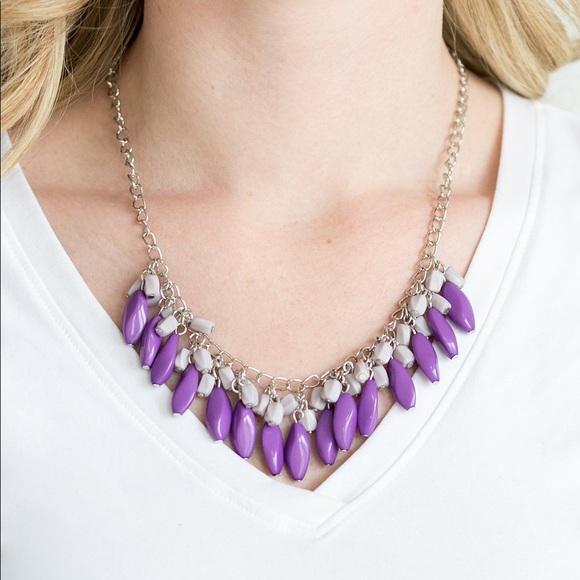 Bead Binge Purple necklace